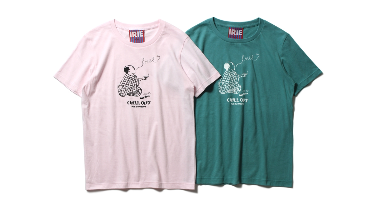 075 CHILL OUT GIRL TEE (Lt.PINK GREEN) ¥4,000