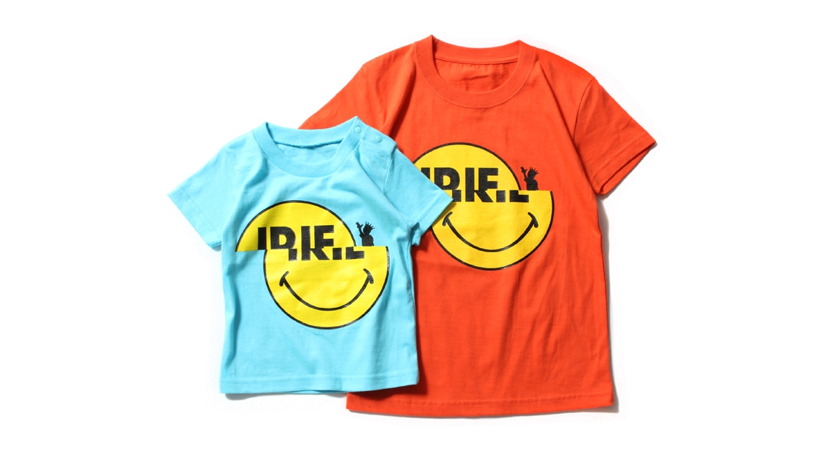 K011 SLIDE SMIRIE KIDS TEE (Lt.BLUE ORANGE) ¥2,800