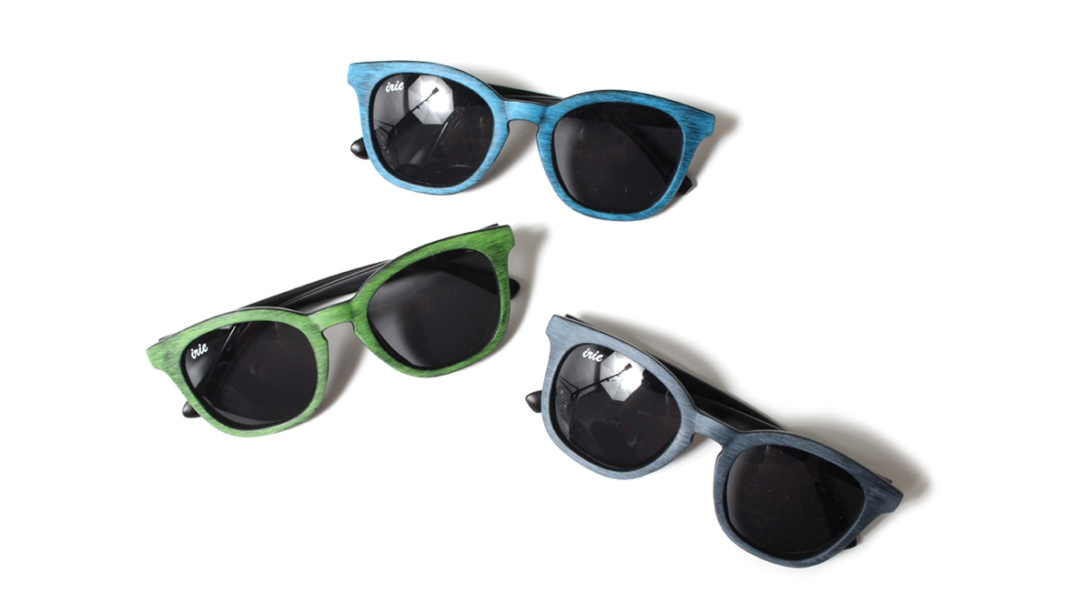 046 IRIE WOOD SUNGLASSES (GREEN BLUE BLACK) ¥4,500
