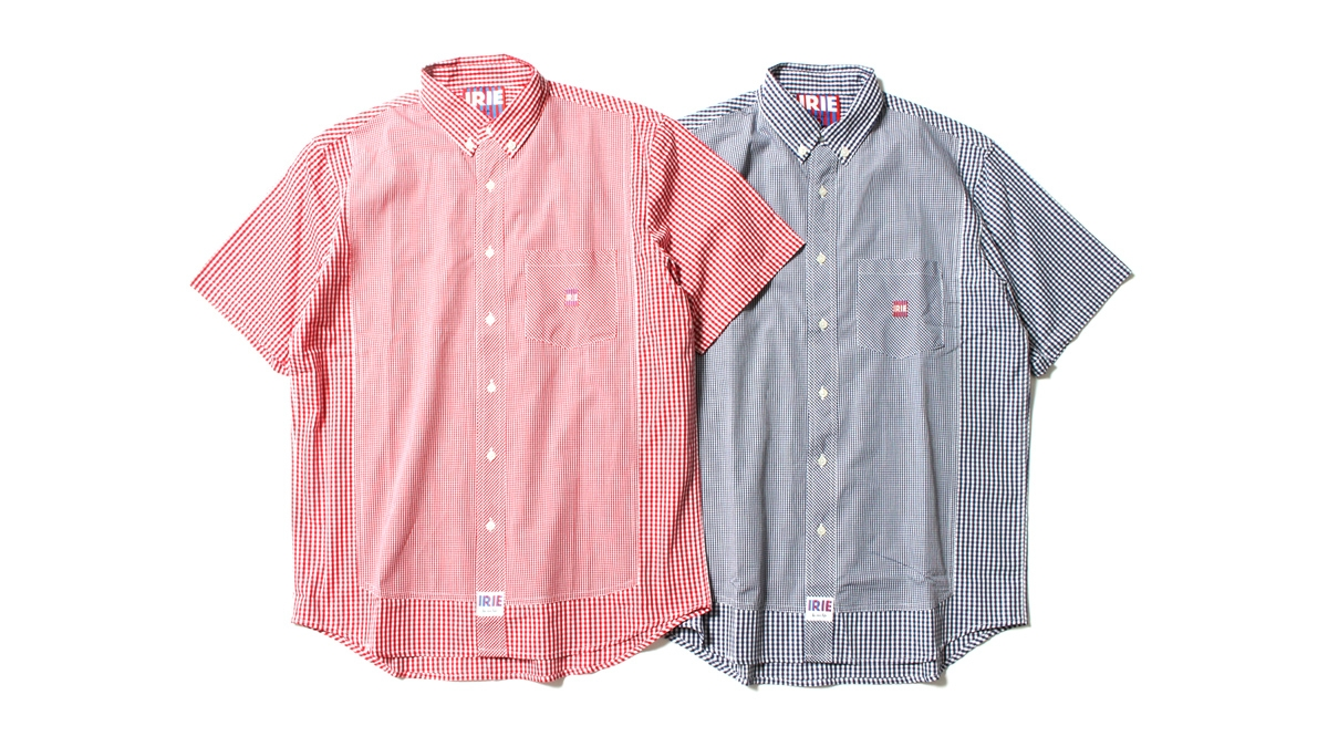 047 IRIE CHECKER FLAG SHIRT (RED BLUE) ¥14,000