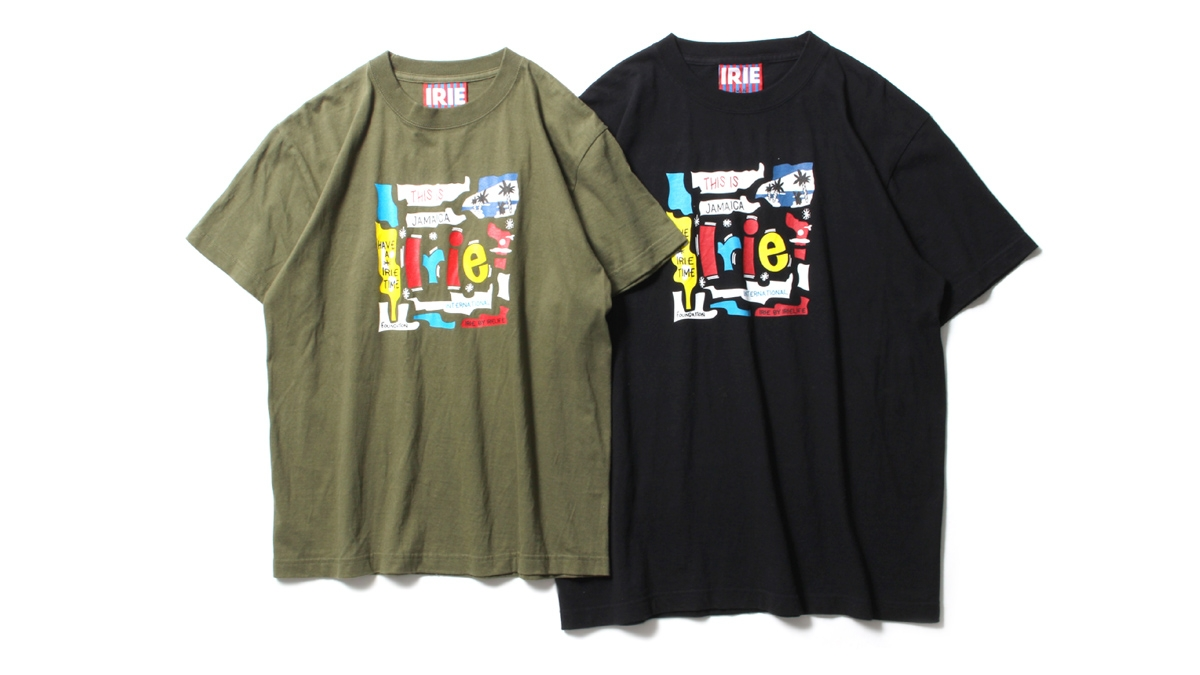 051 IRIE RECORD JACKET TEE (OLIVE BLACK) ¥4,500