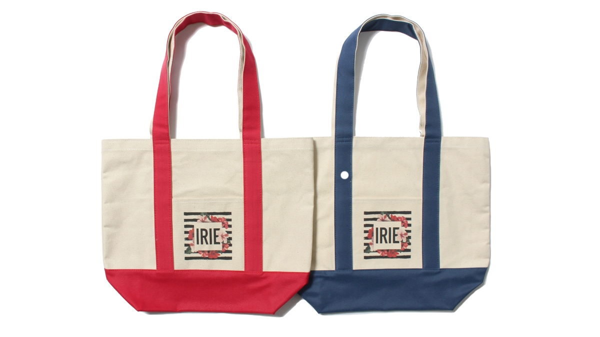 037 BORDER FLOWER TOTE BAG [M] (RED NANY) ¥4,500