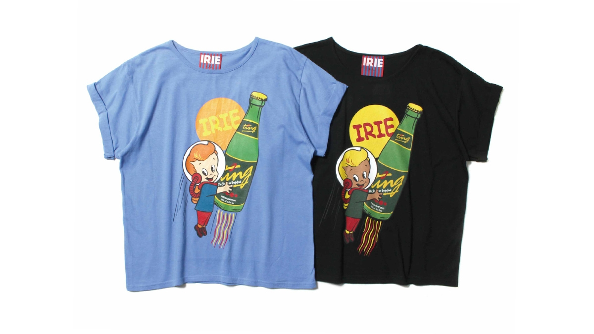038 IRIE TING GIRL TEE (BLUE BLACK) ¥4,500