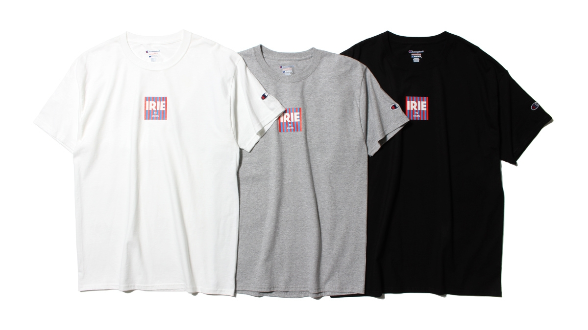 007 ×Champion IRIE LOGO TEE (WHITE GRAY BLACK) ¥4,500