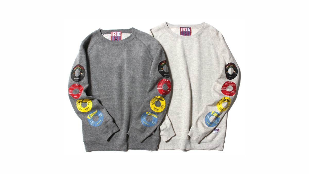 055 RECORD LABEL GIRL CREW(GRAY OATMEAL)¥10,000