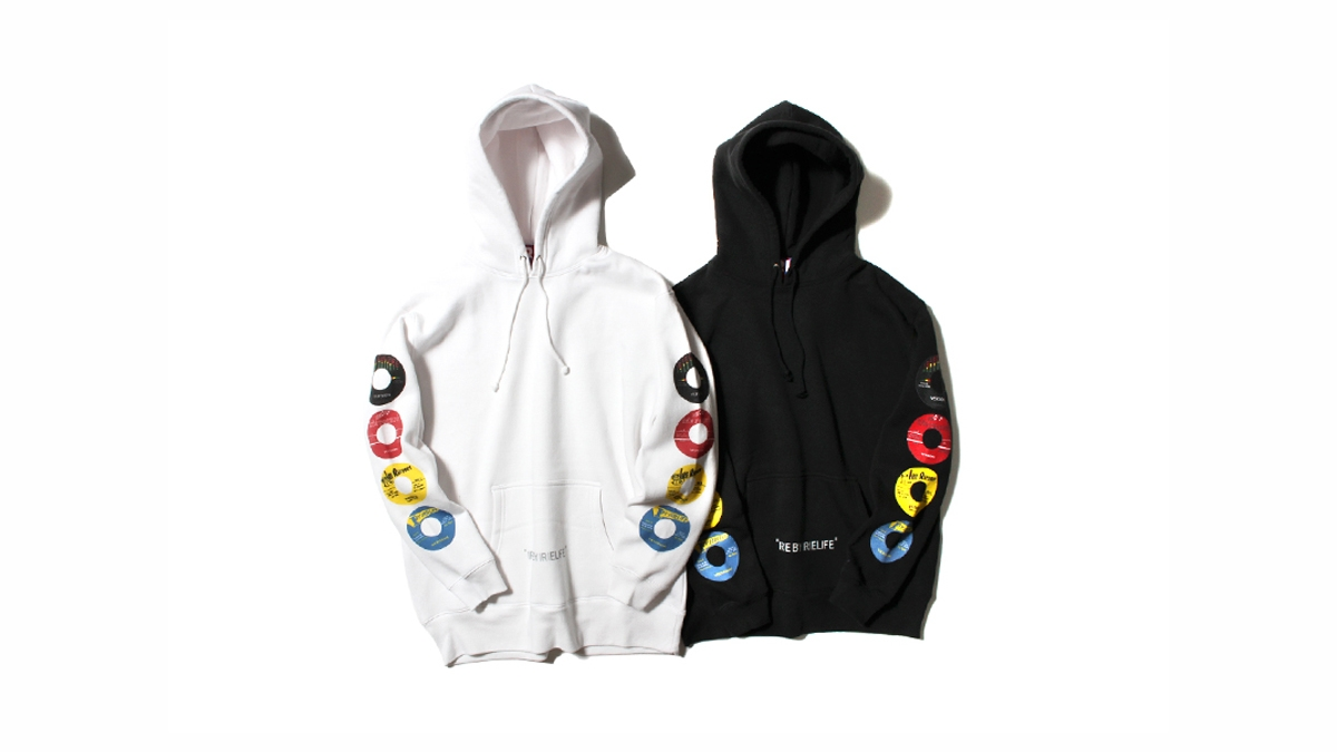 040 RECORD LABEL HOODIE(WHITE BLACK)¥12,000