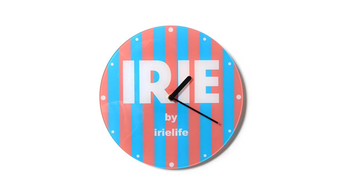 045 IRIE WALL CLOCK (STRIPE) ¥5,000