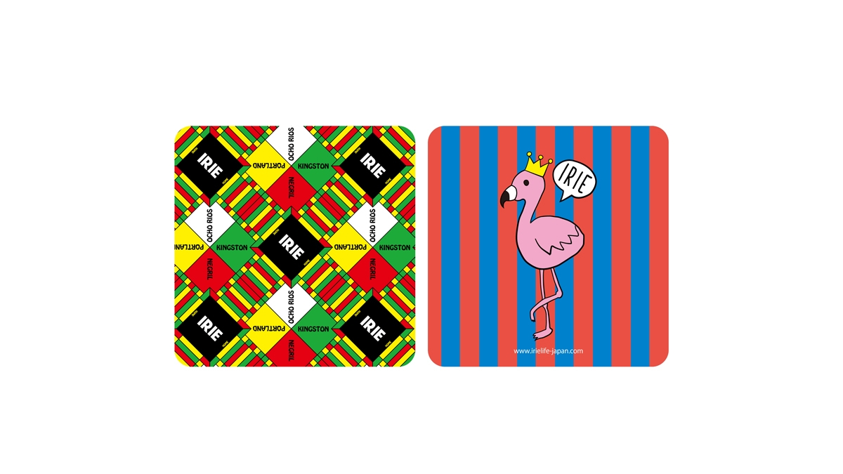 004 IRIE WATERPROOF STICKER(MULTI STRIPE) ¥5000