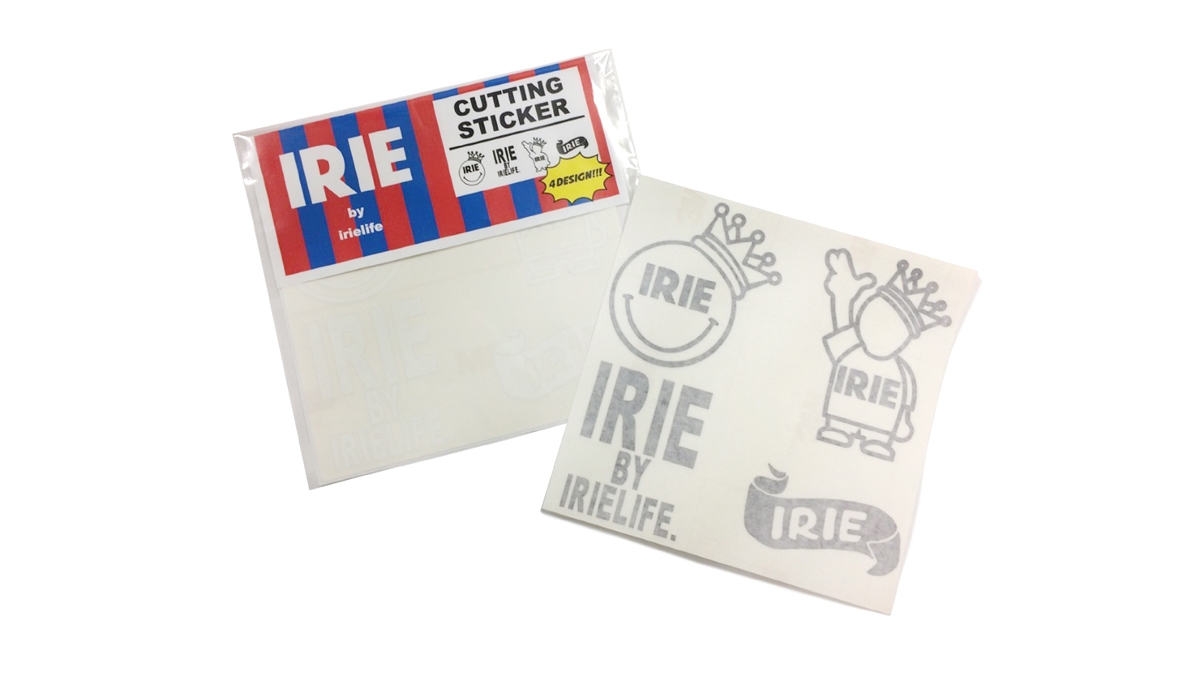 005 IRIE CUTTING STICKER SET(WHITE BLACK) ¥2,500