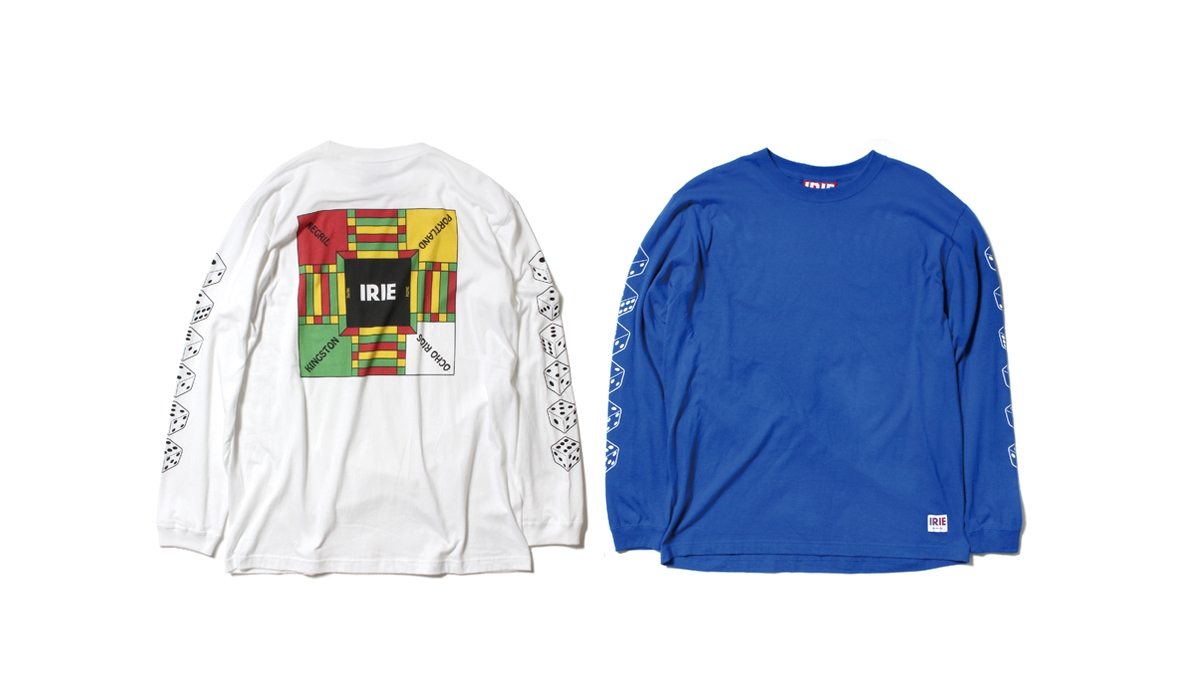 020 IRIE GAME L-S TEE (WHITE BLUE) ¥6,000