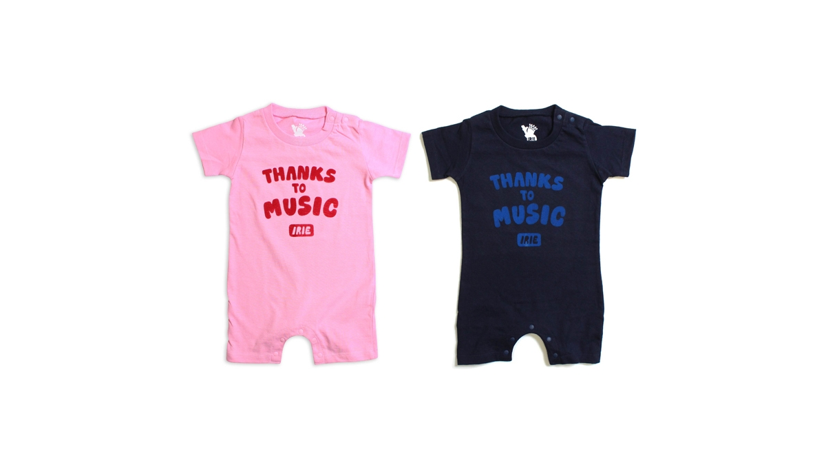 001 THANKS TO MUSIC ROMPERS (PINK NAVY) ¥3,200