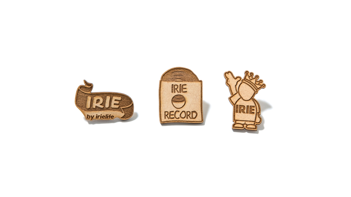 006 ×KIBACO WORKS IRIE WOOD PINS Ver.2 (RIBBON RECORD POW KING) ¥900