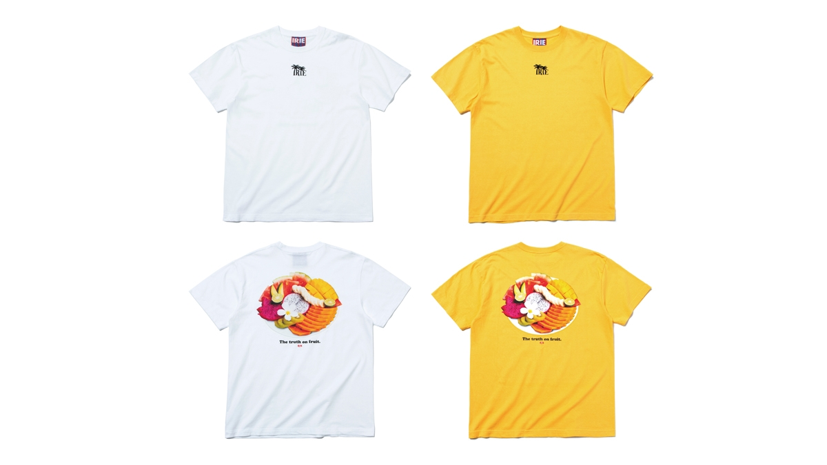 041 THE JUICY FRUIT TEE (WHITE YELLOW) ¥4,500