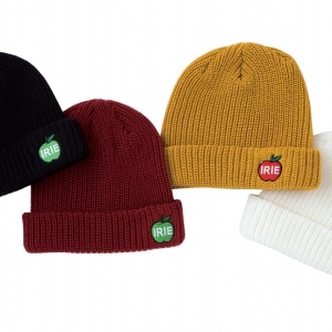 031IRIE APPLE KNIT CAP (BLACK BURGUNDY MUSTARD WHITE) ¥4,800