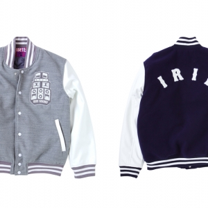 037 IRIE SOUND STADIUM JACKET (GRAY NAVY) ¥28,500
