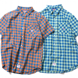 059 IRIE CHECK SHIRT ( ORANGE MINT ) ¥9,800