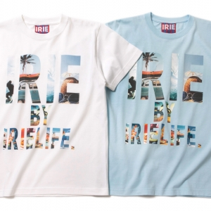 021 IRIE RESORT PHOTOGRAPH TEE ( WHITE Lt.BLUE ) ¥4,500