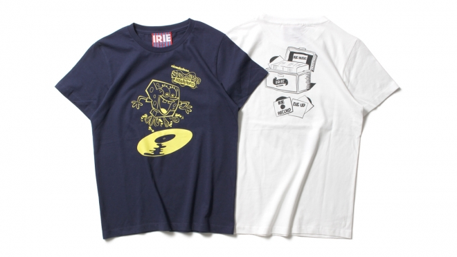068 ×SPONGE BOB RECORD GIRL TEE (NAVY WHITE) ¥5,000