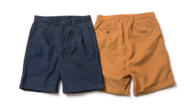 049 CORDUROY SHORT PANTS ( NAVY CAMEL ) ¥13,500