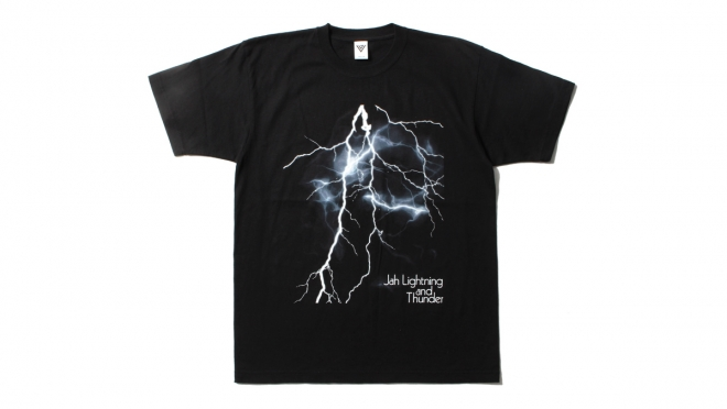 054 VJ JAH LIGHTNING TEE (BLACK) ¥5,000