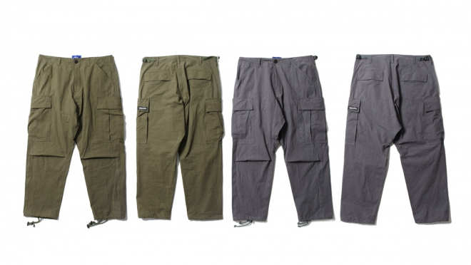 026 REBEL CARGO PANTS (OLIVE GRAY) ¥17,000