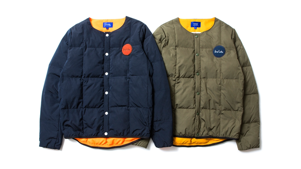 027 LIFE DOWN JACKET (NAVY OLIVE) ¥32,000