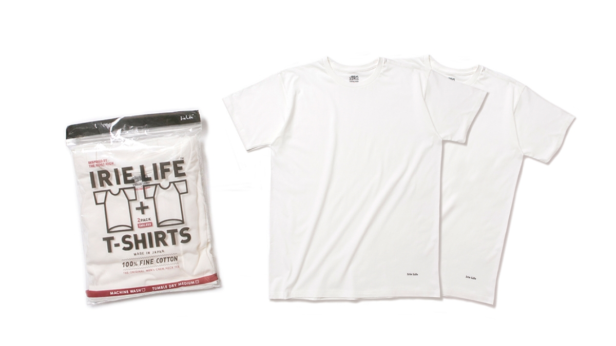 003 TAGLESS 2PACK TEE(WHITE) ¥5,000