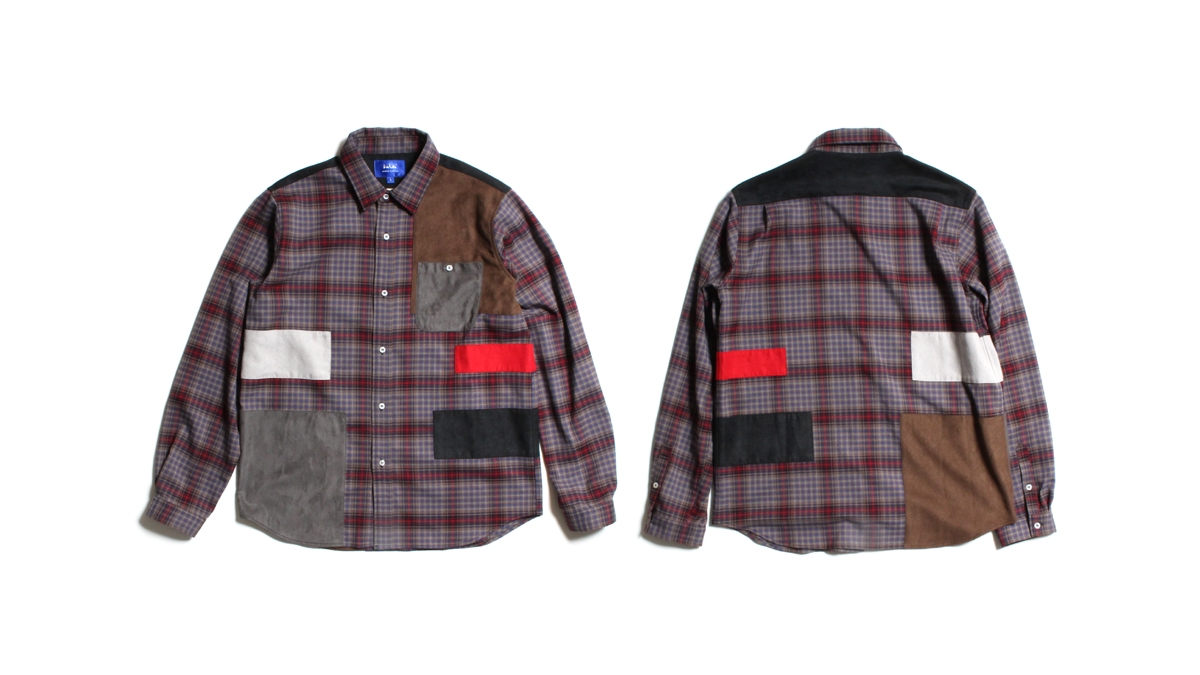 005 LIFE PATCH FLANNEL SHIRT ¥16,000