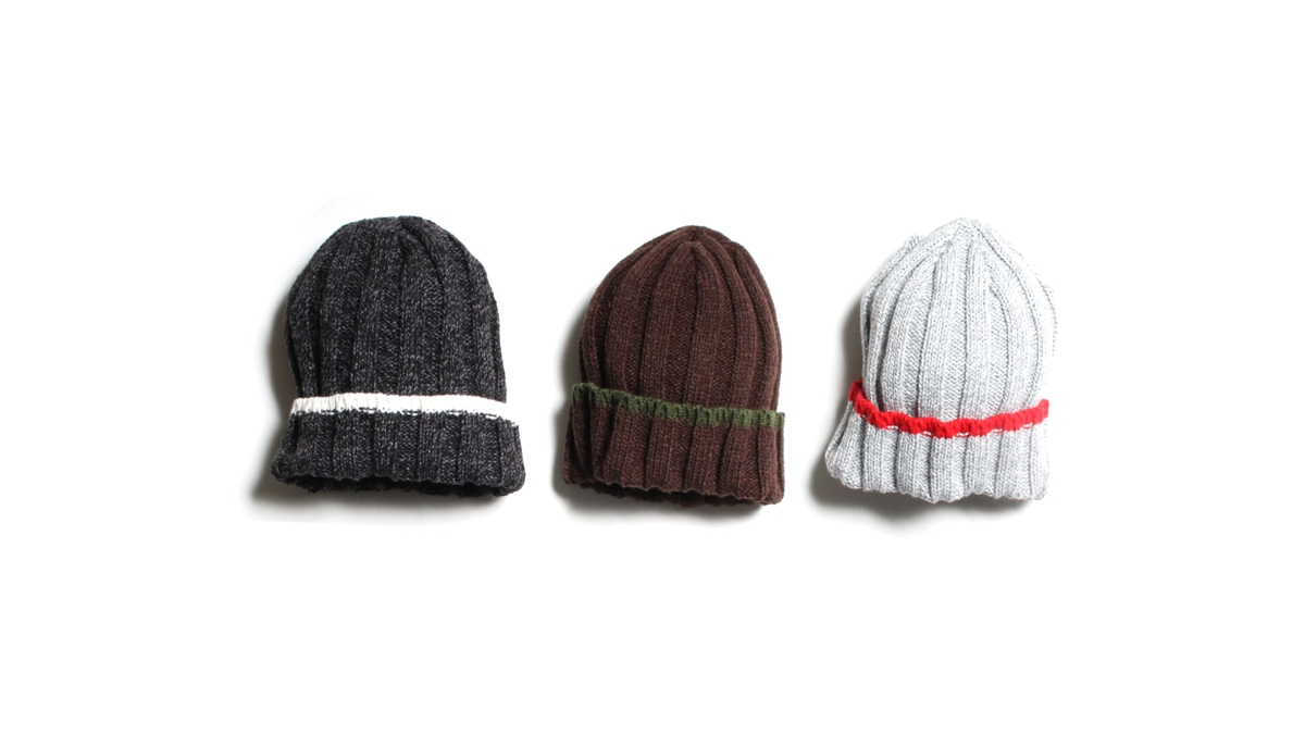 009 LIFE KNIT CAP (BLACK BROWN GRAY) ¥5,500