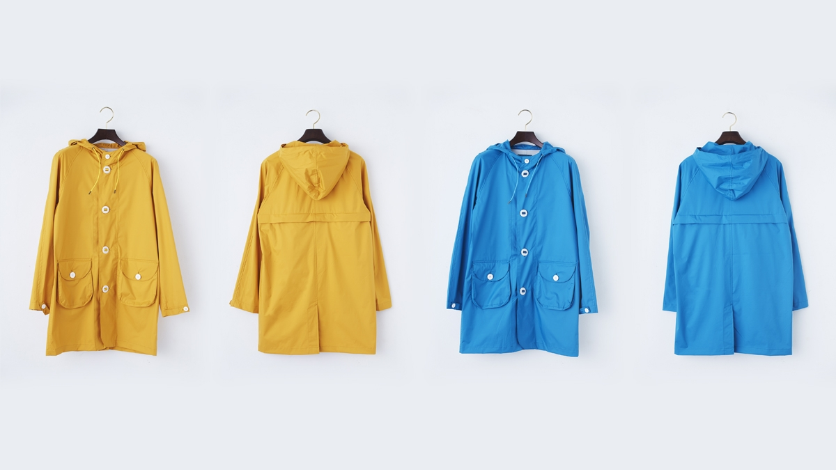 AQUA NYLON COAT (YELOW:BLUE) ¥25,000