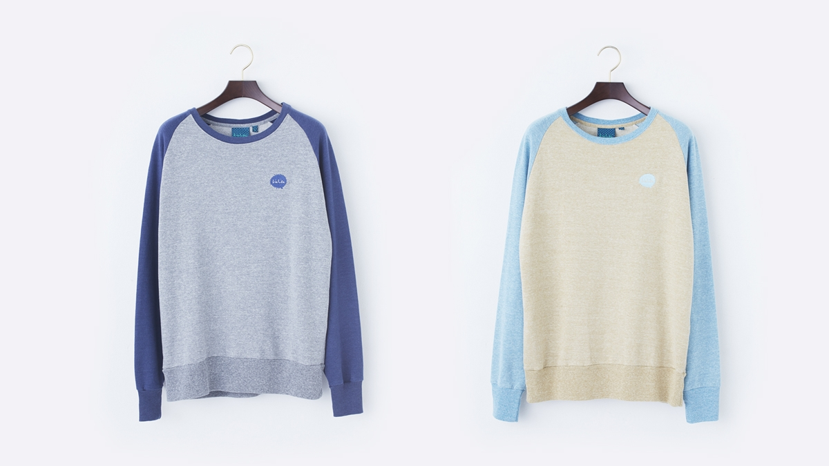 SPLASH RAGLAN SWEAT (BROWN:GRAY) ¥12,000