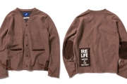 021 URBAN KNIT CARDIGAN ( BROWN ) ¥22,000