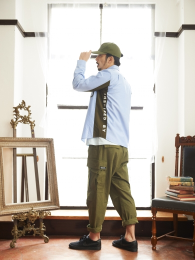 IL LOGO 6PANEL CAP / GIMMIK B.D SHIRT / GIMMIK BORDER TEE / REBEL CARGO PANTS