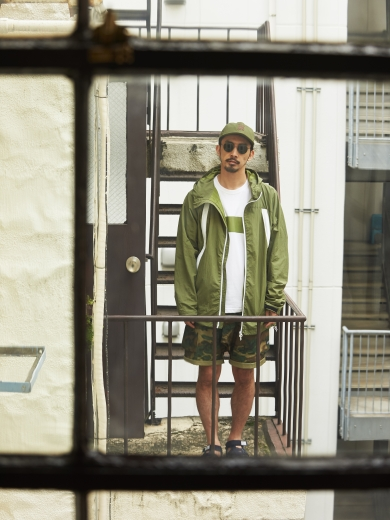 IL LOGO 6PANEL CAP / 90's REBEL COAT / LINE POCKET TEE / CONTAINER CARGO SHORTS